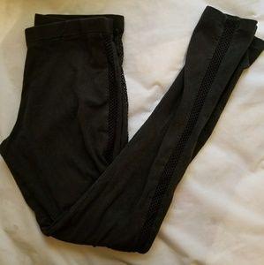 VS black mesh see through sides leggings
